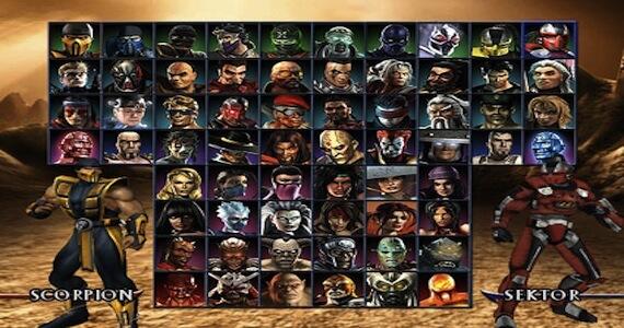 Mortal Kombat Armageddon Select Screen