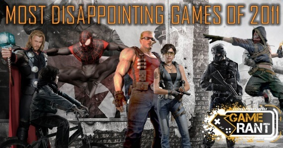 10 Most Disappointing Games of 2011