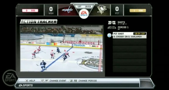NHL 12 Preview Action Tracker
