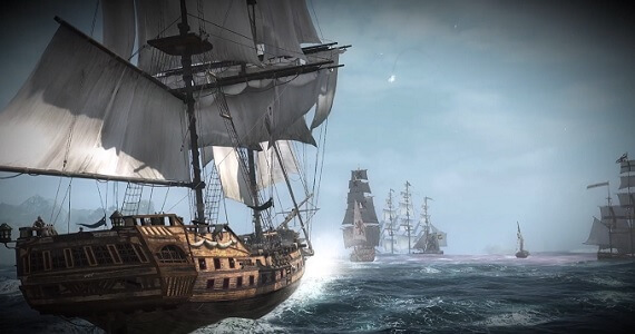 Naval combat in 'Assassin's Creed IV: Black Flag'