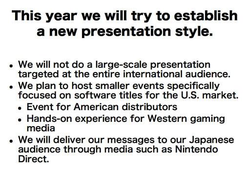 Nintendo E3 Slide - New Presentation