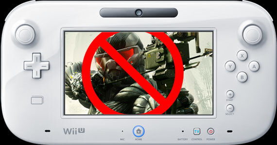 No Crysis 3 on Wii U