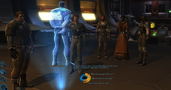 Old Republic Review Group Dialogue Wheel Star Wars BioWare