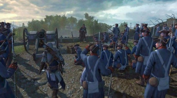 The beginning of the assassins creed 3 gameplay demo