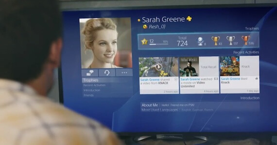 New PS4 Trailer Highlights Sony's New User Interface