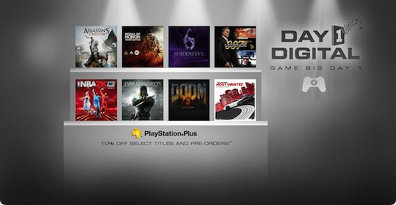 Sony Announces PSN Day 1 Digital Program; Includes 'Assassin's Creed 3'