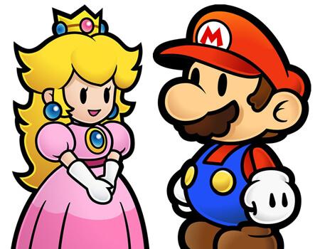 Paper Mario and Peach