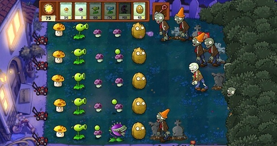 Plants Vs Zombies Night Levels Vita