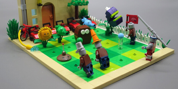 Plants vs Zombies LEGO Set