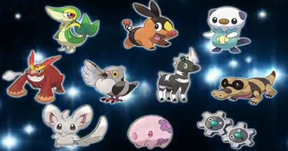 For a full list go to http://serebii.netlackwhite/pokemon.shtml