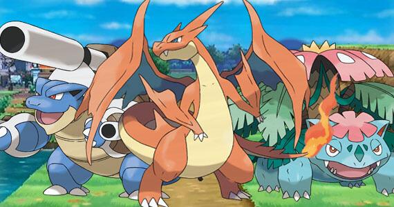 Pokemon X Y Mega Charizard Blastoise Venasaur