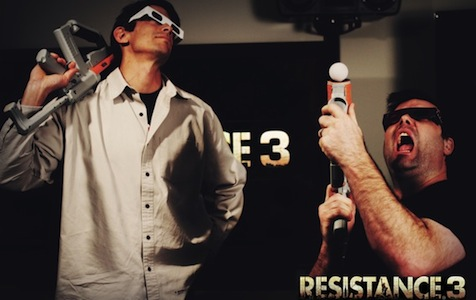 Resistance 3 3D Move Support - Insomniac Posing