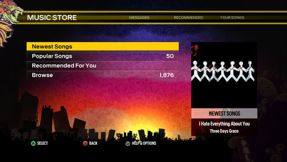 Rock Band Blitz Newest Songs