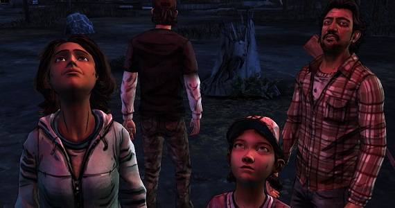 Sarita, Clementine and Carlos in 'The Walking Dead' season two 'A House Divided'