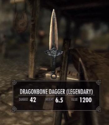 Skyrim Dawnguard Dragonbone Dagger