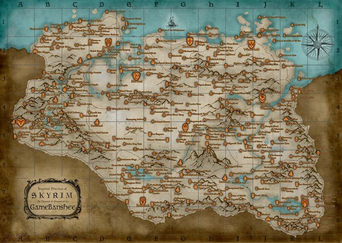 'Skyrim' Map Contains All Notable Locations [Updated]