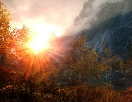 Skyrim sunrise