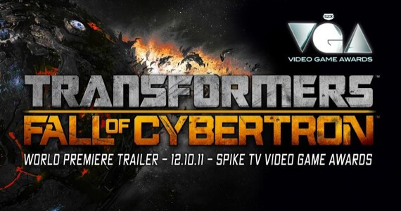 Spike Video Game Awards Exclusive Transformers Fall of Cybertron Trailer
