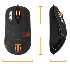 SteelSeries Black Ops 2 Mouse Review Dimensions