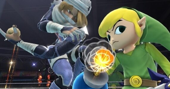 Super Smash Bros Link and Sheik