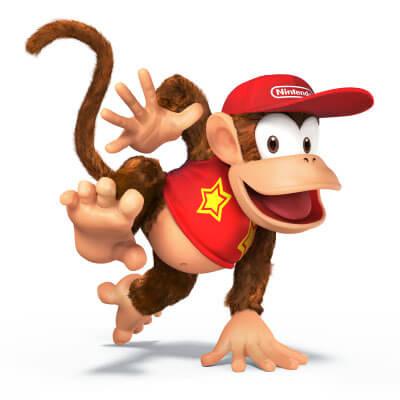 Super Smash Bros Wii U 3DS Diddy Kong