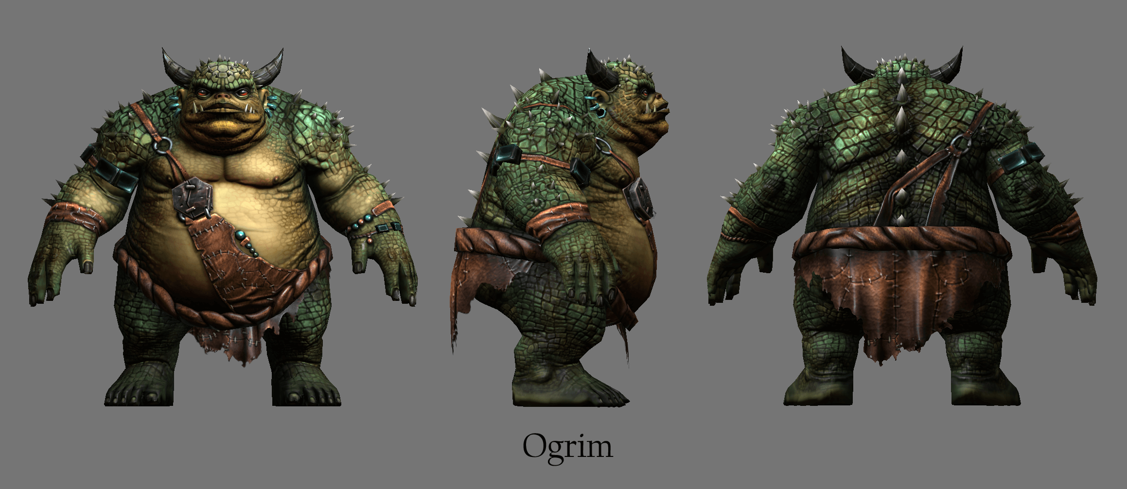 The Elder Scrolls Online Concept Art Ogrim Render