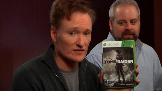 Conan O'Brien Reviews 'Tomb Raider'