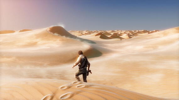 Uncharted 3 Blur Reality Games