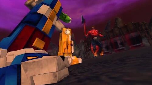 Voltron takes on Robeast King Zarkon