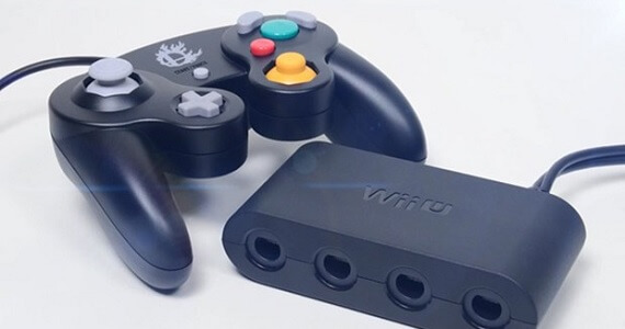 Wii U Gamecube controller and adapter