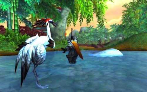 World of Warcraft Mists of Pandaria Crane Style Blizzard