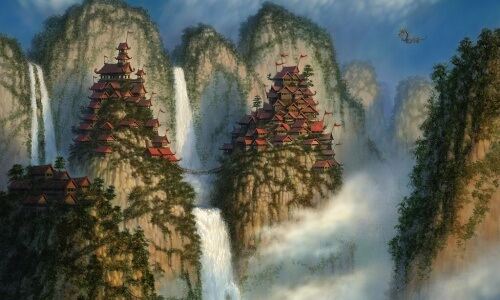 World of Warcraft Mists of Pandaria Mountain Houses Blizzard