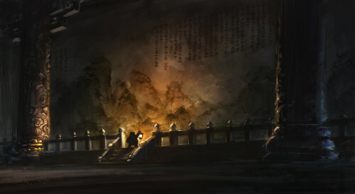 World of Warcraft Mists of Pandaria Mural Blizzard