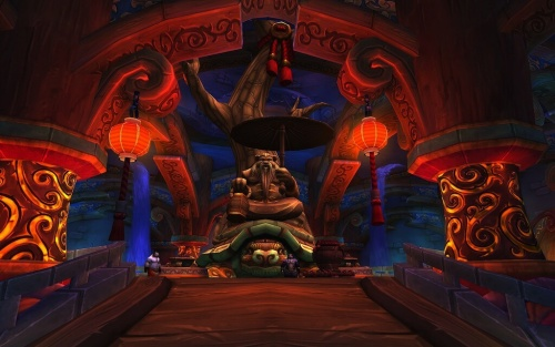 World of Warcraft Mists of Pandaria Panda Statue Blizzard