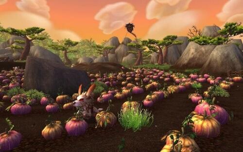 World of Warcraft Mists of Pandaria Strange Pumpkin Patch Blizzard