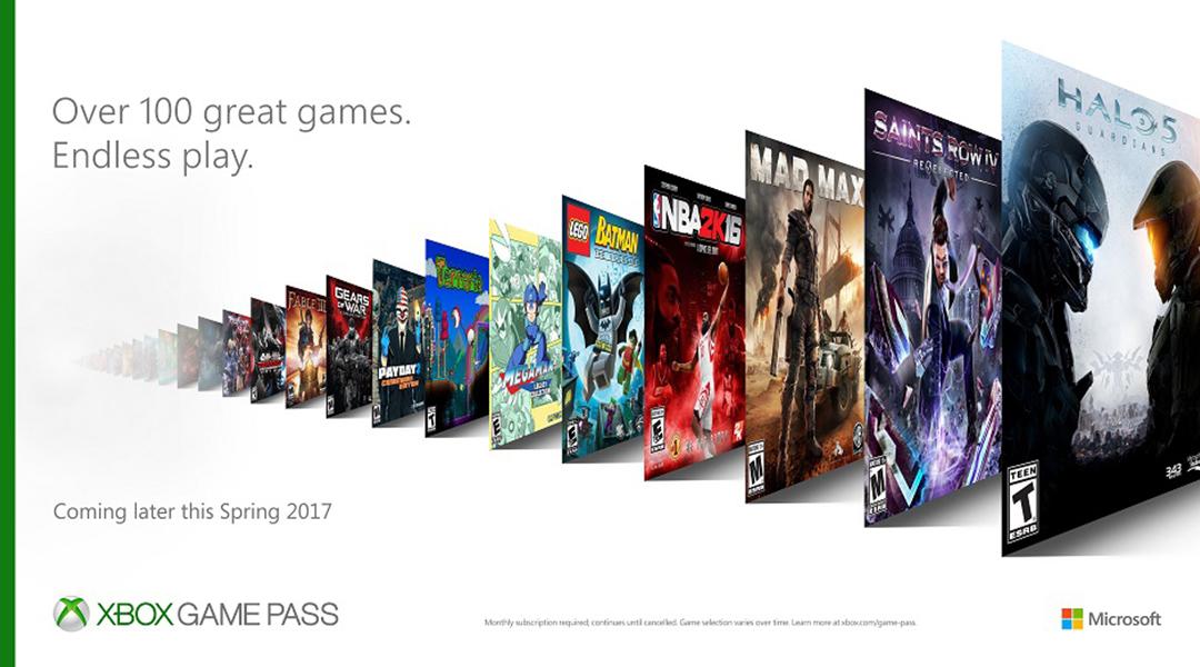 Microsoft Announces Xbox Game Pass Subscription Service