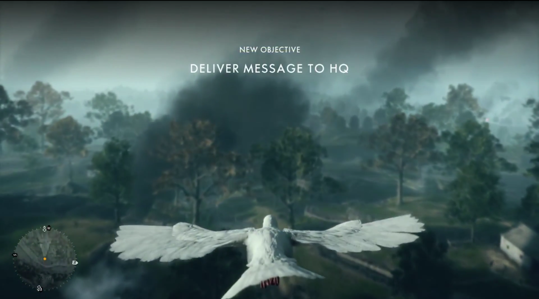 Battlefield 1 Mission Lets You Play as a Pigeon