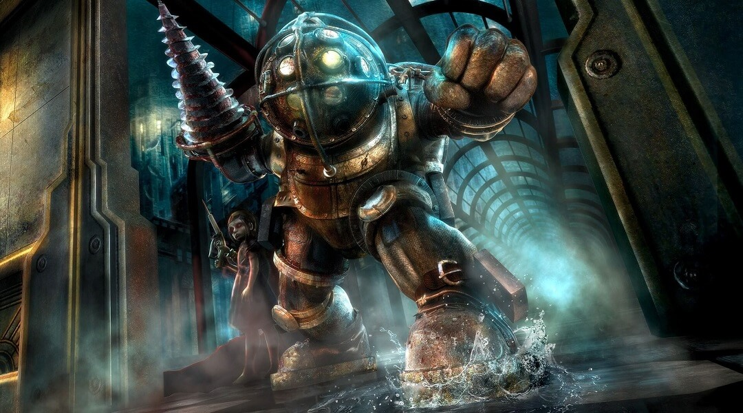 BioShock Level Remade in Unreal Engine 4 is Stunning - Big Daddy and Little Sister