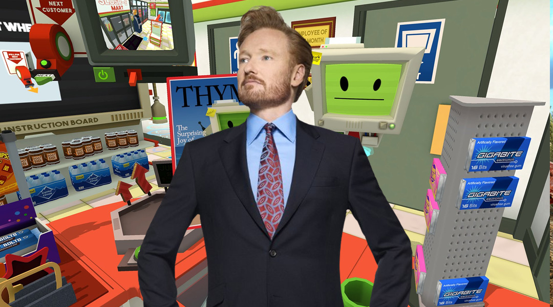 Conan O'Brien Tries Virtual Reality