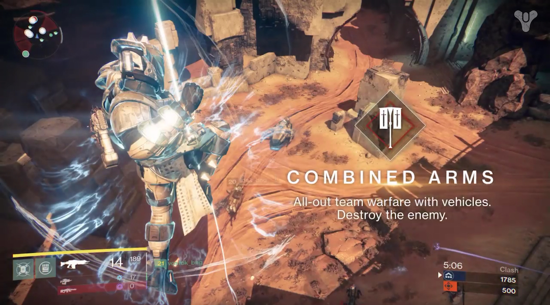 Destiny's Combined Arms Playlist Has Been Updated