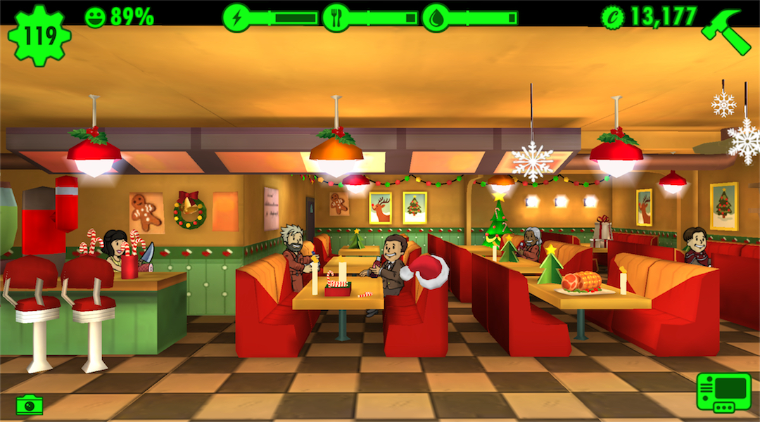Fallout Shelter Gets a Christmas Update