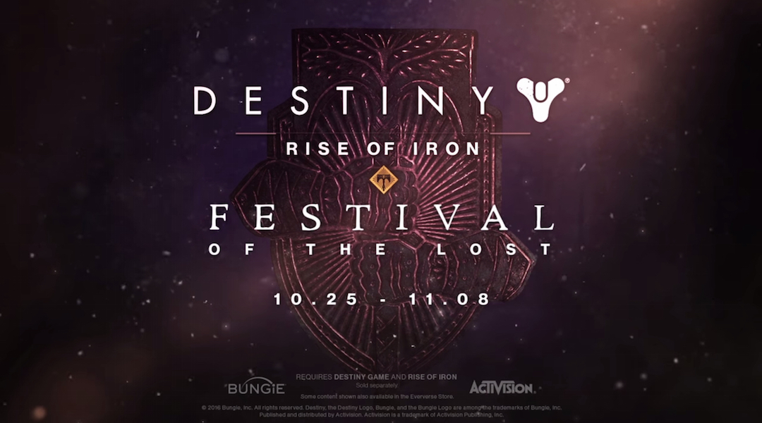 Destiny's Festival of the Lost Event Dated and Detailed