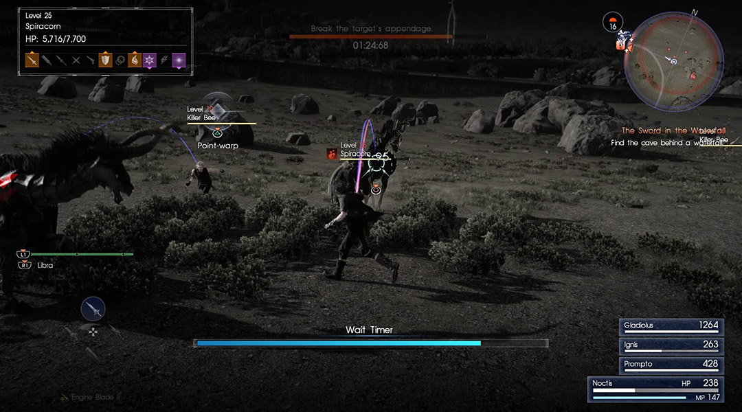 Final Fantasy 15 Guide: How To See Enemy Weakness