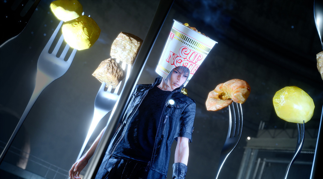 Final Fantasy 15 is Getting a Cup Noodle Helmet