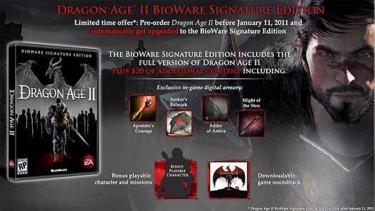 Dragon Age 2 Free Upgrade Signature Edition