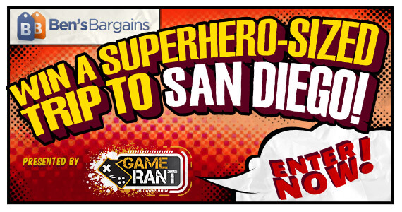 GR Giveaway: Win a Superhero-Sized Trip to San Diego This July! [Update: MORE Prizes!]