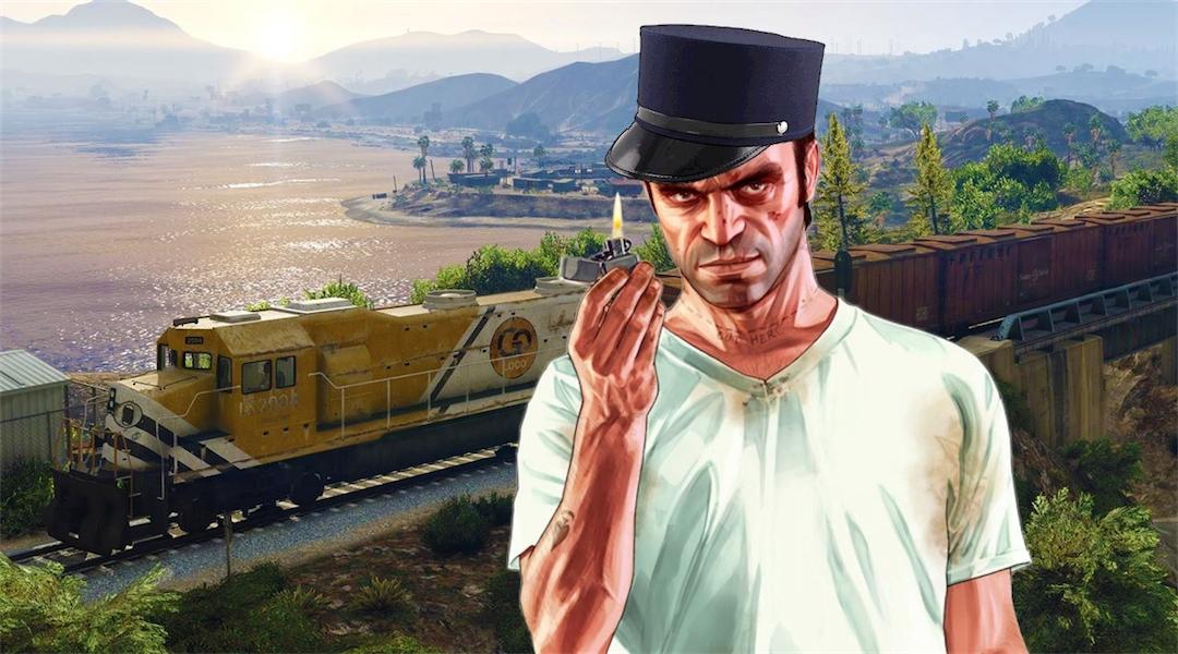 Grand Theft Auto 5 Mod Puts 100 Tanks vs 1 Train