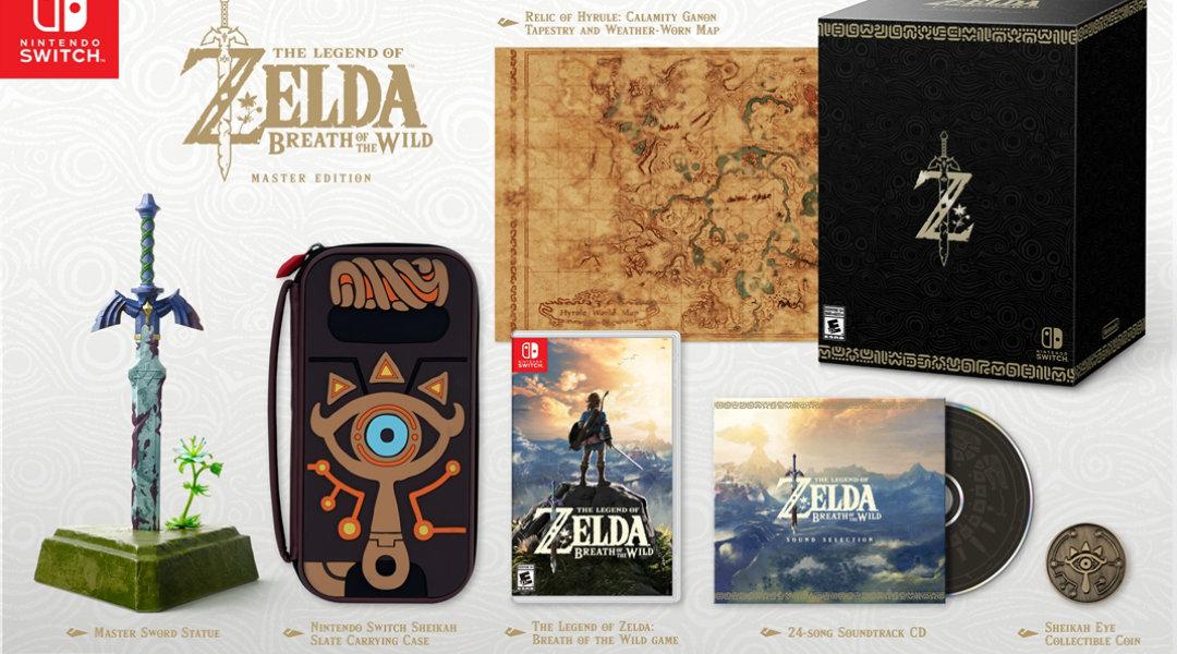 Zelda: Breath of Wild Master Edition Unboxed by Nintendo