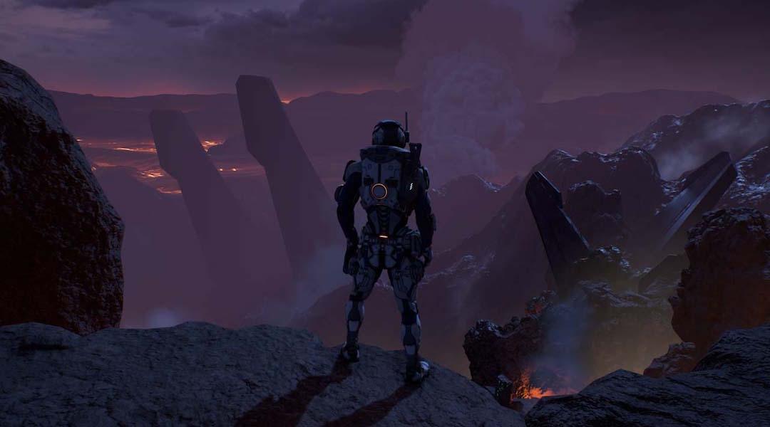 Mass Effect: Andromeda Screens Highlight Volcanic Planet