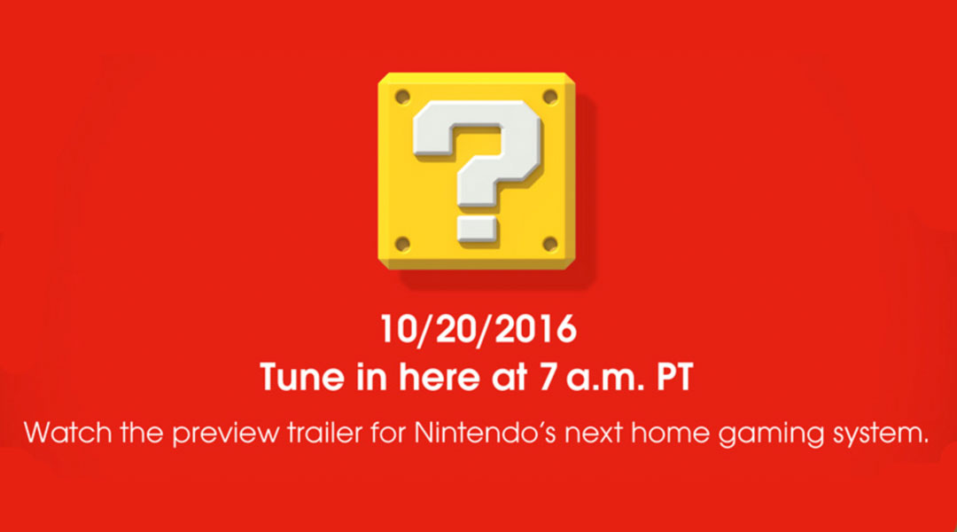 First Look At Nintendo NX Arriving Tomorrow Morning